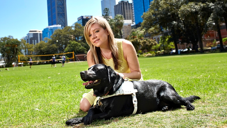 Kate and Guide Dog Lucy
